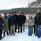 The picture shows project team members at a nature protection area near Braunschweig, Germany.